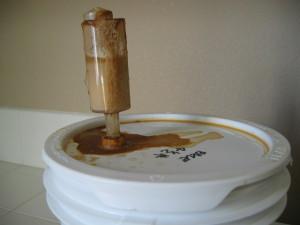 Airlock full of active fermentation